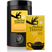 Madame Earl Grey Tea & Embossed Black Storage Tin Pack