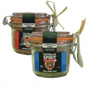 Wild Herb & Aussie BBQ Salts Twin Pack Presentation Jars