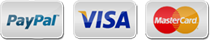pay by Visa, MasterCard or PayPal